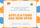 SOCIO-ECOLOGICAL TRANSFORMATION YOUTH EXCHANGE 2020 IS OPEN FOR APPLICATIONS