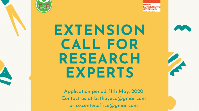 EXTENSION CALL FOR RESEARCH EXPERTS